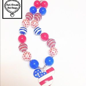 Other - Patriotic Fun With Mickey Necklace